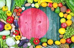 新鲜的水果和蔬菜从孟加拉国 免版税库存图片