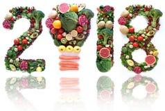 2018新鲜的水果和蔬菜 库存图片