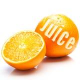 新鲜的水果的汁液桔子 库存图片