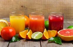 新鲜的汁液的分类 库存图片