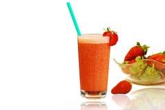 新鲜的汁液草莓 免版税库存图片