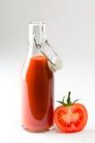 新鲜的汁液蕃茄 库存图片