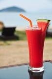 新鲜的汁液西瓜 免版税库存图片