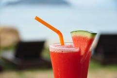 新鲜的汁液西瓜 库存图片