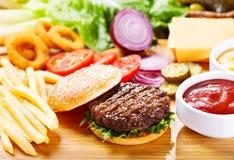 新鲜的汉堡包蔬菜 库存图片