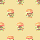 新鲜的汉堡包 库存照片