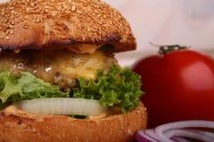 新鲜的汉堡 库存图片