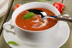 新鲜的汤蕃茄 免版税库存图片