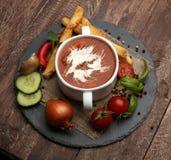 新鲜的汤蕃茄 库存照片