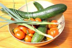 新鲜的沙拉夏天蔬菜 图库摄影