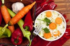 新鲜的沙拉射击工作室蔬菜 免版税图库摄影