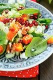 新鲜的沙拉用南瓜和芹菜 免版税库存图片