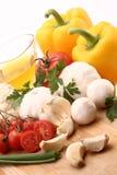 新鲜的沙拉蔬菜 库存图片