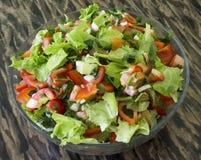 新鲜的沙拉蔬菜 库存照片
