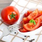 新鲜的沙拉蕃茄 图库摄影