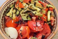 新鲜的沙拉蕃茄 库存照片