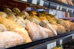 新鲜的法国面包用芝麻 免版税库存照片