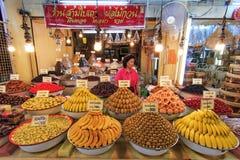 新鲜的泰国食物待售在曼谷,亚洲 免版税库存图片