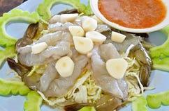 新鲜的海鲜虾 免版税库存图片