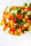新鲜的混合胡椒沙拉 免版税库存照片