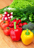 新鲜的混合蔬菜 免版税库存照片