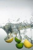 新鲜的游泳水果和蔬菜 免版税库存照片