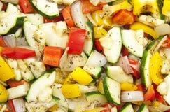 新鲜的烤蔬菜 库存图片
