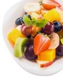 新鲜的热带水果沙拉健康点心  图库摄影