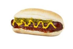新鲜的热狗三明治 免版税库存图片