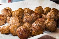 新鲜的煮熟的Meatballs_2 库存照片