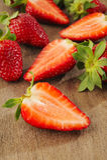 新鲜的片式草莓 库存图片