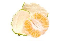 新鲜的片式蜜桔 库存照片