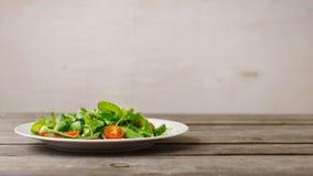 新鲜的牌照沙拉 免版税图库摄影