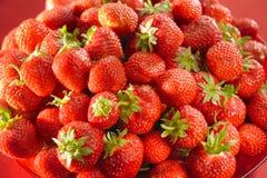 新鲜的牌照草莓 库存照片