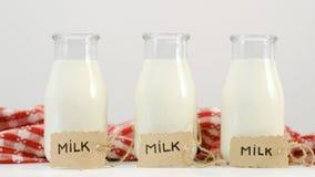 新鲜的牛奶饮料自然营养钙蛋白质 库存照片