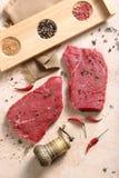 新鲜的牛肉和磨房片断  免版税库存图片