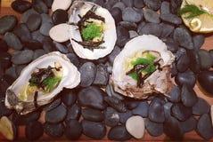 新鲜的牡蛎在巴厘岛 免版税库存照片