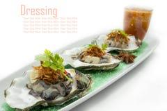 新鲜的牡蛎 库存图片