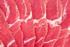 新鲜的猪肉 免版税库存图片