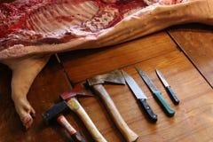 新鲜的猪肉 库存照片