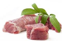 新鲜的猪里脊肉 免版税库存图片