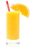 新鲜的玻璃汁液桔子 库存图片
