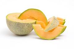 新鲜的瓜桔子 库存图片