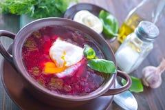 新鲜的甜菜汤 免版税库存图片