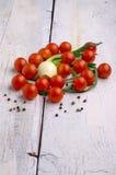 新鲜的甜蕃茄 库存照片