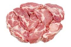 新鲜的生肉片断   免版税图库摄影