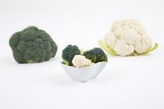 新鲜的硬花甘蓝和花椰菜 免版税库存图片