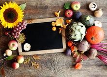新鲜的秋天水果和蔬菜 免版税图库摄影