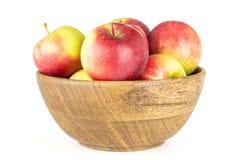 新鲜的红色苹果詹姆斯在白色追悼隔绝 免版税图库摄影
