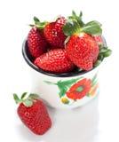 新鲜的红色草莓 图库摄影